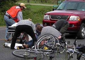 Accident bicicleta cu mașina