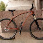 Bicicletă din lemn