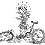 Bicicleta merge greu