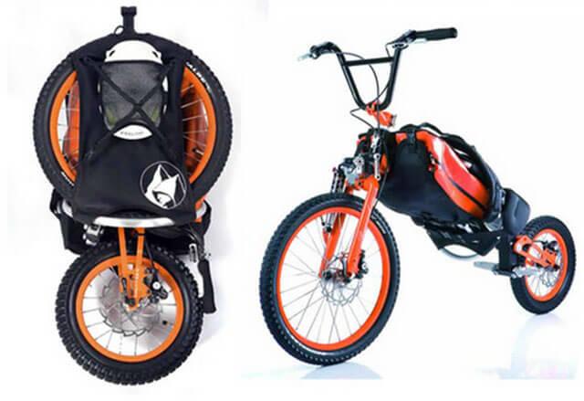 Bicicleta-rucsac