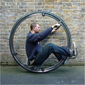 Bicicleta cu o singură roată de la Ben Wilson