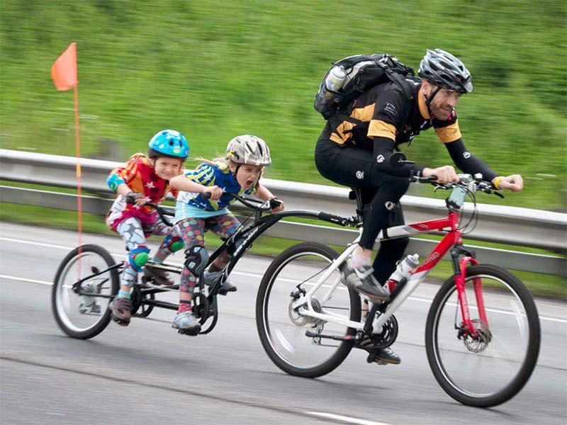 Transportare a copiilor pe bicicletă