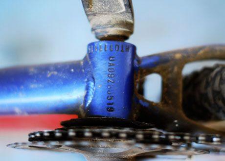 Numărul cadrului de bicicletă emise de către fabrica producătoare