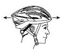 Poziția corectă a cășții pentru bicicletă