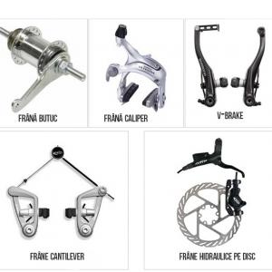 Tipuri de frane pentru bicicleta