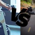 Ciclismul indoor vs outdoor